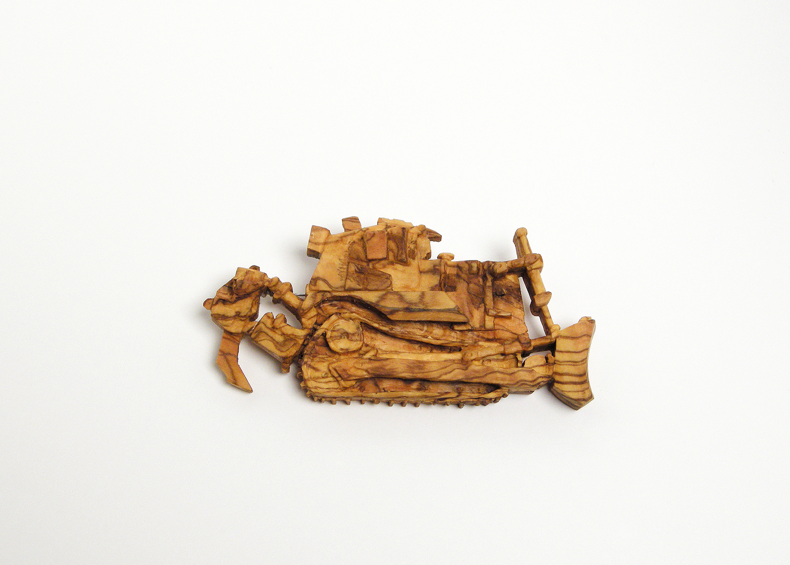 D-9 ( Nr. 1 )  | Brooch | 2008 | Olive wood, silver, stainless steel | 45X93X20mm