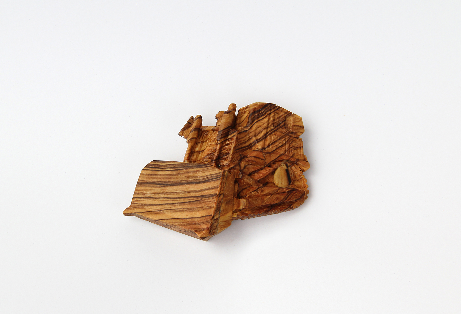 D-9 ( Nr. 2 )  | Brooch | 2010 | Olive wood, silver, stainless steel | 45X93X20mm
