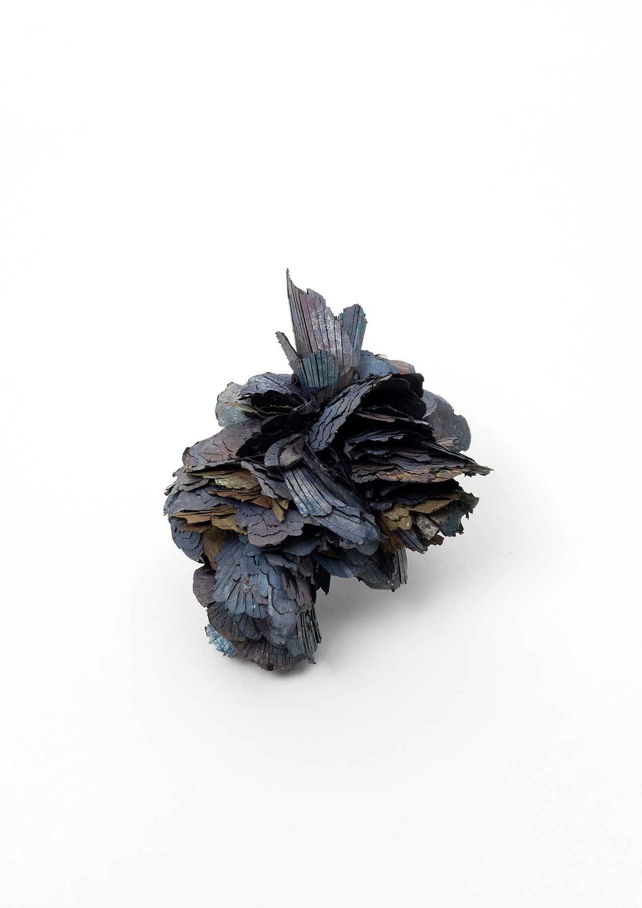 The Free Radicals (part 5)           |    Brooch          |      2012      |          Treated cellulose, paint, glue, silver, brass, stainless steel        |      85X65X60 mm