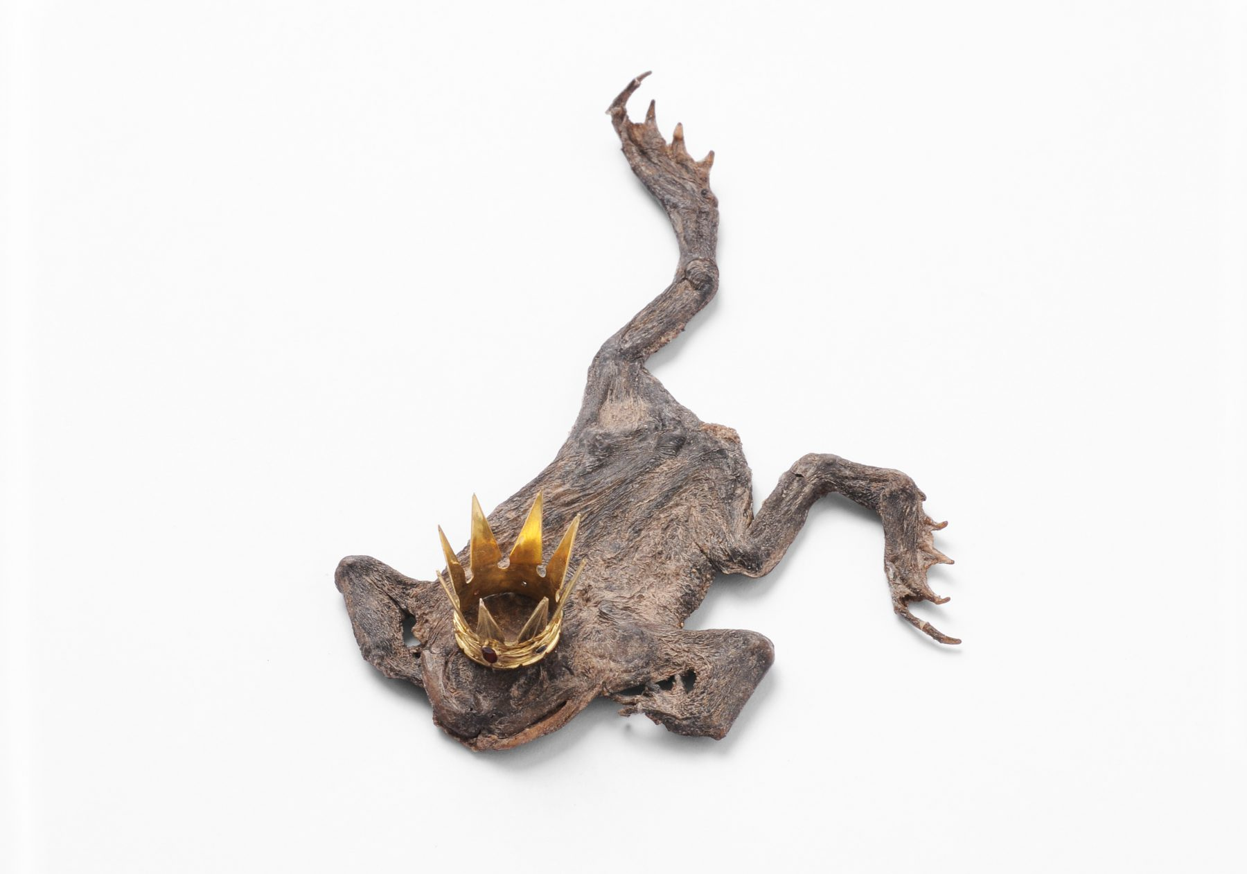 """The True Story of Prince Frog""    |   Pendant    |   2012 |      Frog, gold, diamond, saphir, granat  |    85X70X35 mm"